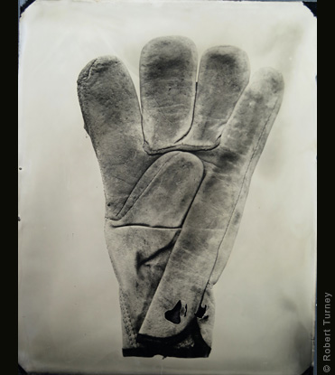 Glove 04 wet plate photo by photographer Robert Turney