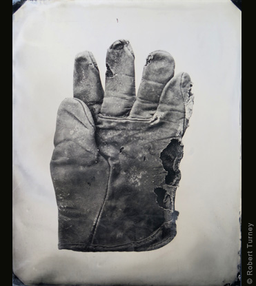 Glove 26 wet plate photo by photographer Robert Turney